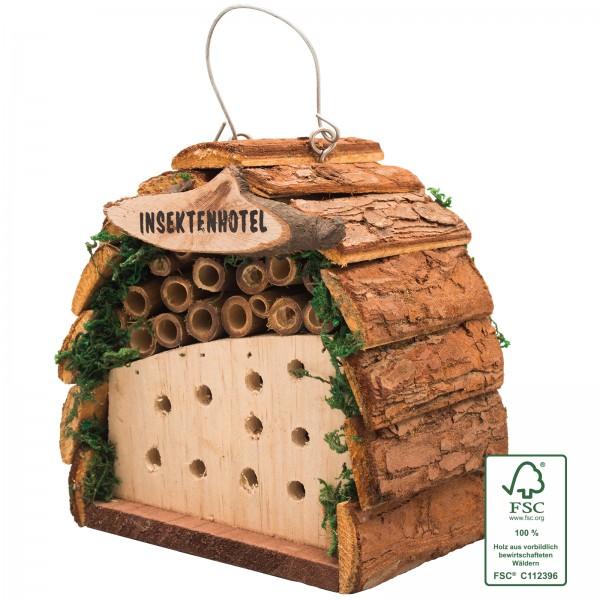 Insektenhotel FSC – das kleine Insektenhotel aus FSC-zertifizierten Holz zum Aufhängen oder Hinstellen von Gardigo