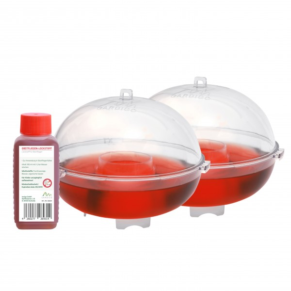 Fruit Fly Trap, Set of 2 incl. attractant
