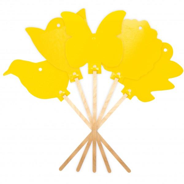 Gelb-Sticker 5er-Set – das Klebefallen-Set gegen Blattläuse, Trauermücken und Minierfliegen von Gardigo
