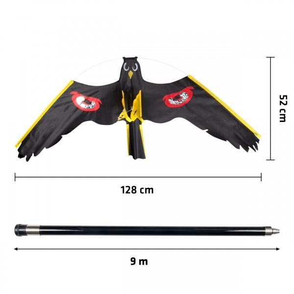Vogelabwehr Drachen – die professionelle Vogelscheuche als Drachen von Gardigo