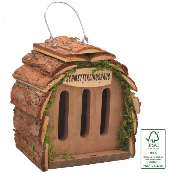 Schmetterlingshaus – der natürliche Schmetterlingsunterschlupf aus FSC-zertifiziertem Holz von Gardigo