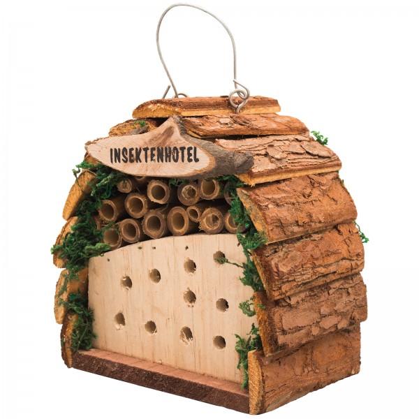 Insektenhotel – das kleine Insektenhotel aus naturbelassenen Holz zum Aufhängen oder Hinstellen von Gardigo