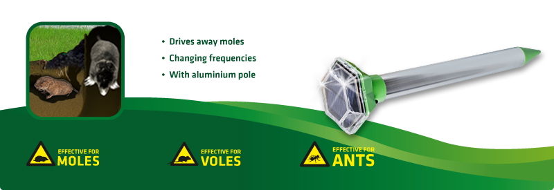 Solar Mole and Ant Repellent, Vibration Diamant